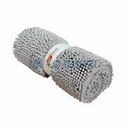 图片 【京东超市】富居(FOOJO)可机洗雪尼尔吸水防滑地垫门垫浴室40*60cm银灰