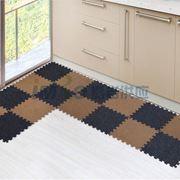 图片 【京东超市】富居(FOOJO)厨卫玄关阳台防滑拼块地毯40*40cm黑灰色